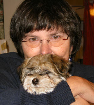 Teresa with puppy Truman